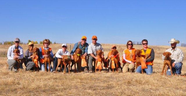 Rocky Mountain Vizsla Club Members--Skyline Brittany Club hunting test, Oct 2010